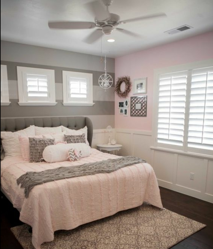 deco chambre rose poudr et blanc id e. Black Bedroom Furniture Sets. Home Design Ideas