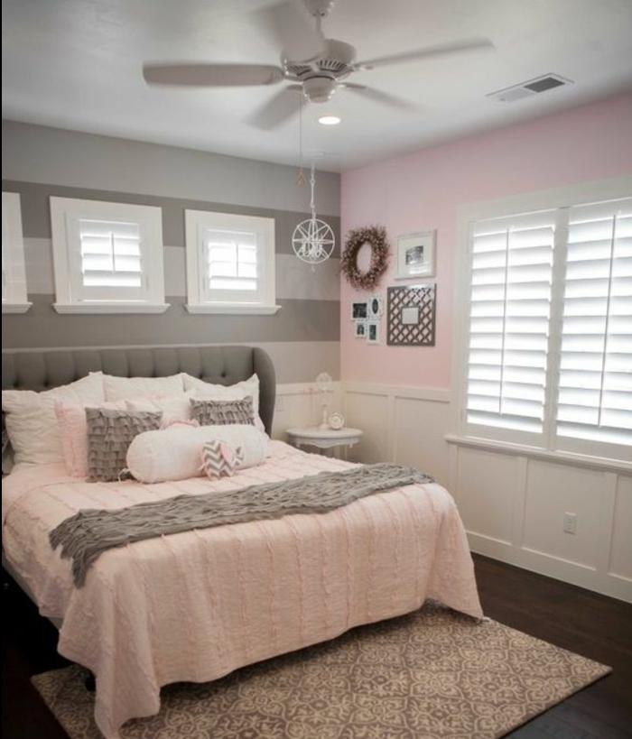 revgercom deco chambre rose poudr233 et blanc id233e