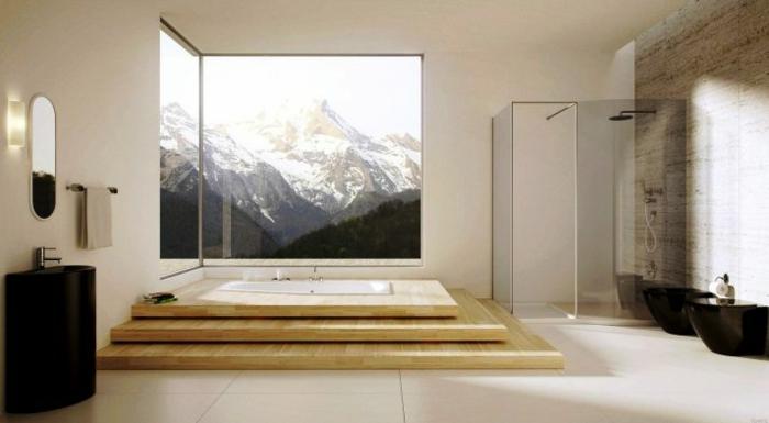 Belle salle de bain cosy belle salle de bains avec douche déco