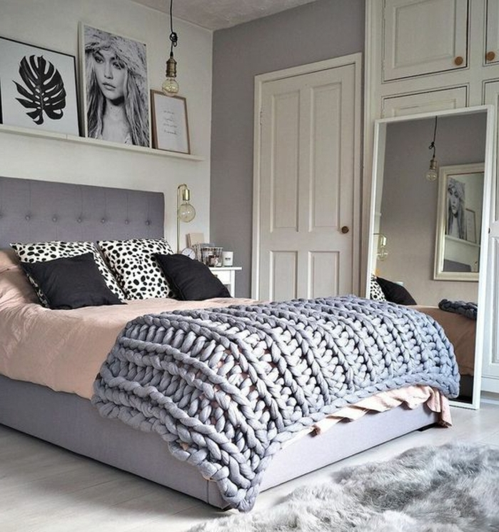 deco maison gris et rose id e inspirante. Black Bedroom Furniture Sets. Home Design Ideas