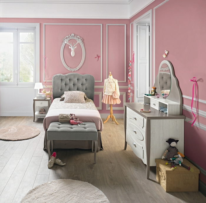 chambre fille grise chambre gris mauve chambre enfant. Black Bedroom Furniture Sets. Home Design Ideas