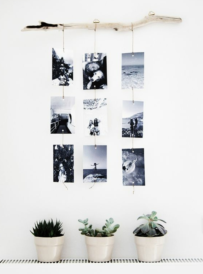 Deco noir et blanc a faire soi meme - Faire un mur de photos decoration ...