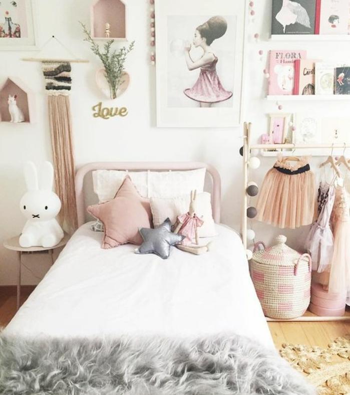Deco Chambre Fille Noir Et Rose : Deco chambre fille scandinave
