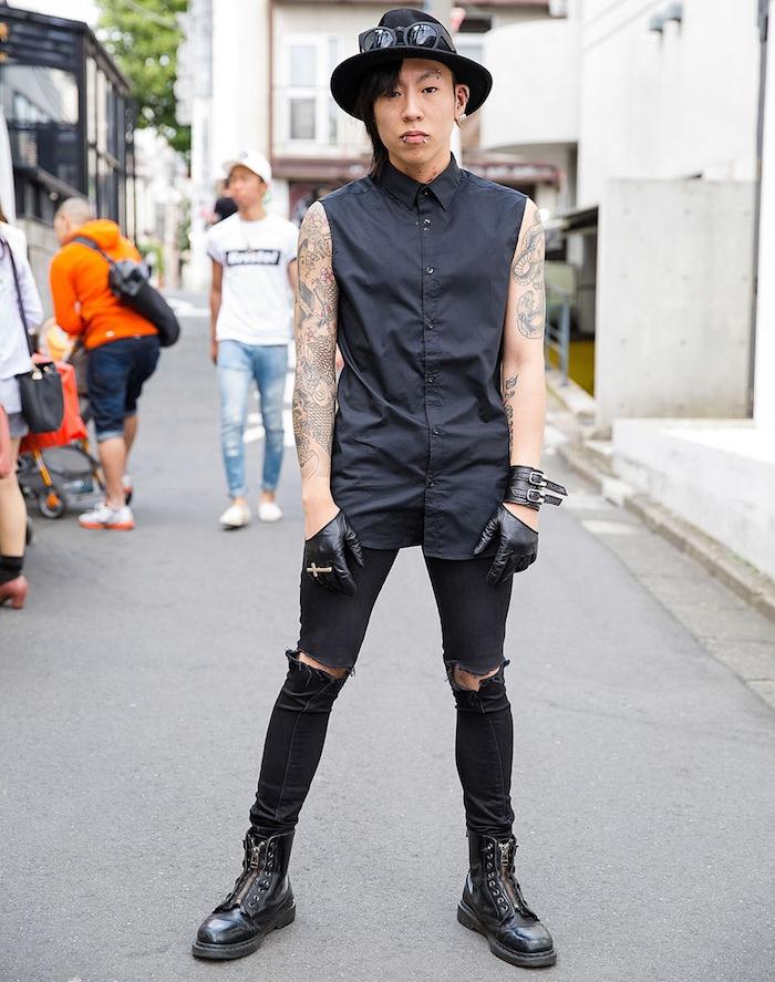 style emo hipster skrillex avec dr martens 1460 zip homme
