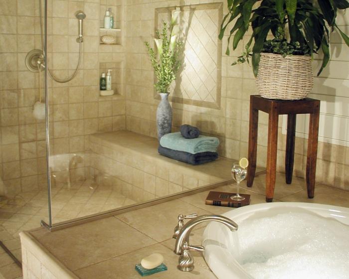 Salle de bain contemporaine salle de bain cocooning idée doree