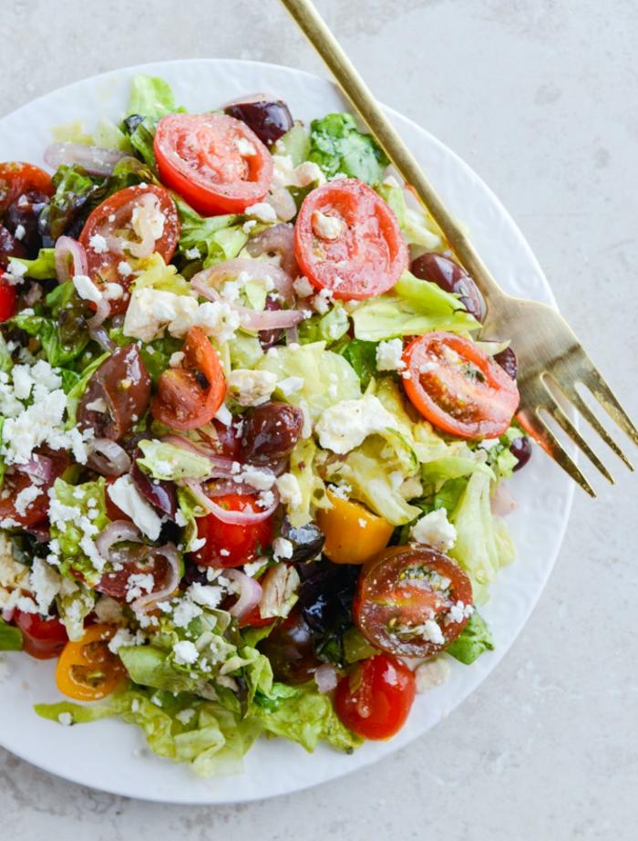Salade d automne; idée repas marmiton; salade compose