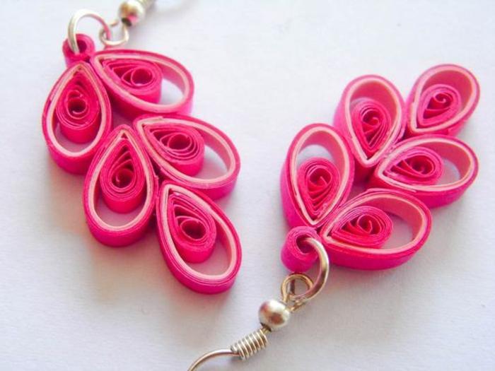 fabriquer ses boucles d'oreillesn jolies boucles d'oreilles roses