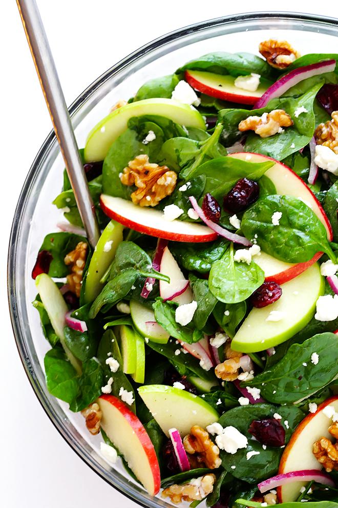 Magnifique idée comment faire une salade composée originale avec épinard