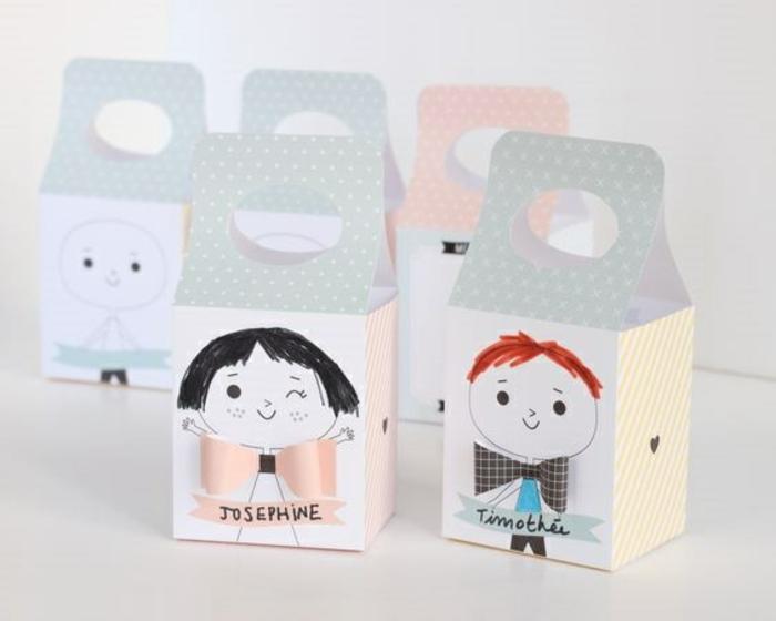 Inspiration photo petit cadeau invité anniversaire boîte de lait transformé