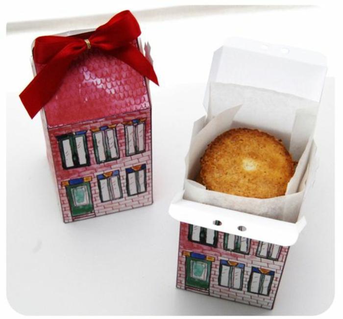 Boite a dragee original diy petit cadeau pas cher boite avec muffin