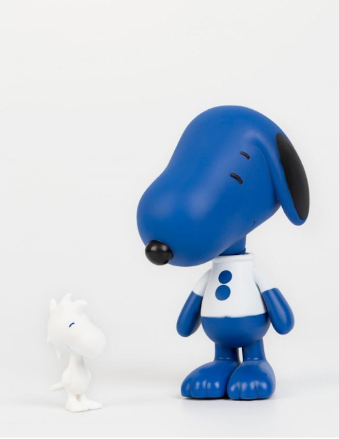 Figurines Peanuts et colette rue st honore Snoopy & Woodstock