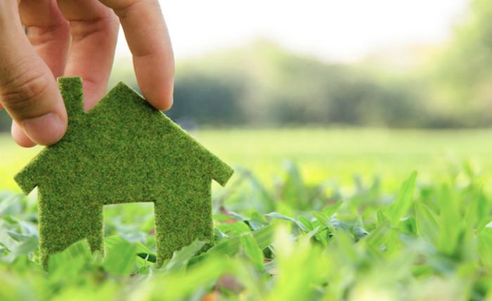 idée home staging, avoir une maison saine, systèmes de purification, gazon vert, nature