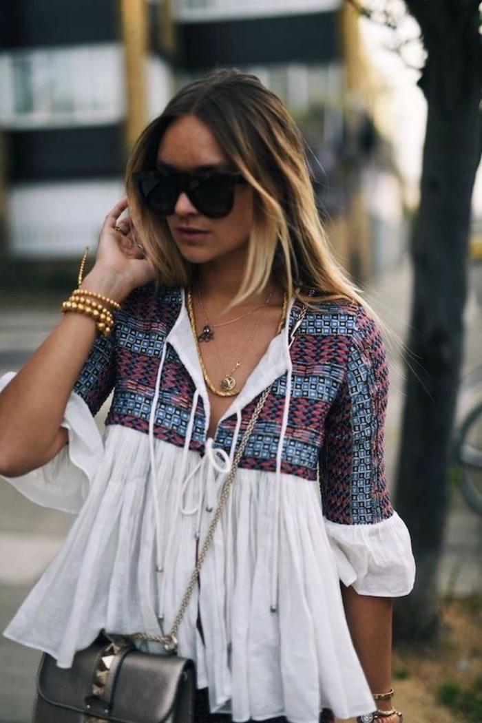 Les idées classiques pour femme tendance bohème blouse cool