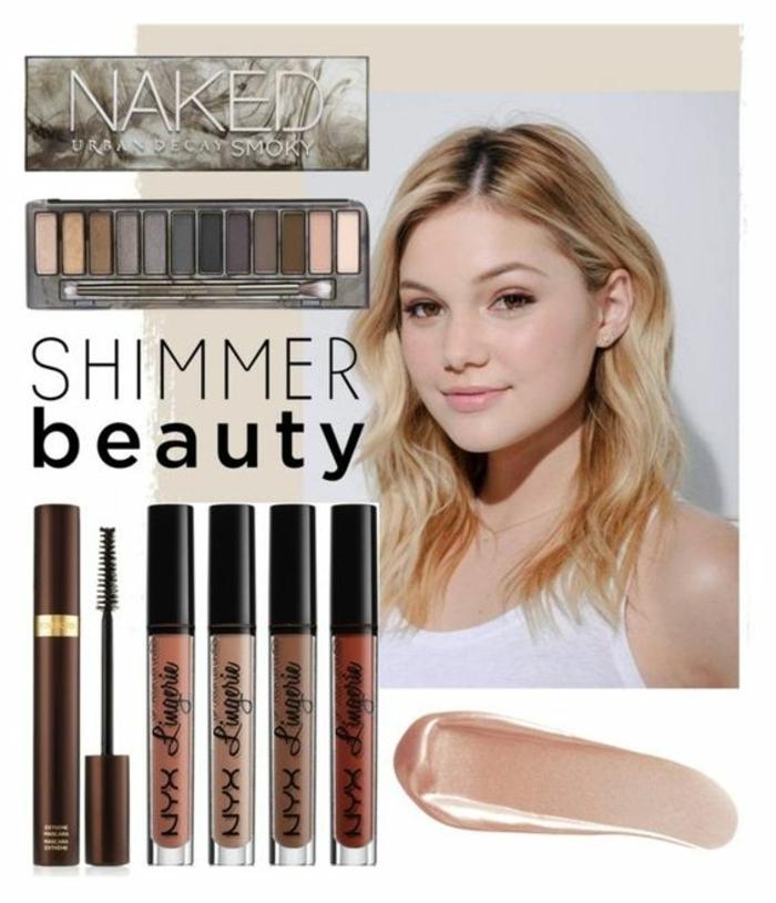 palette nude pour un maquillage naturel et glamour