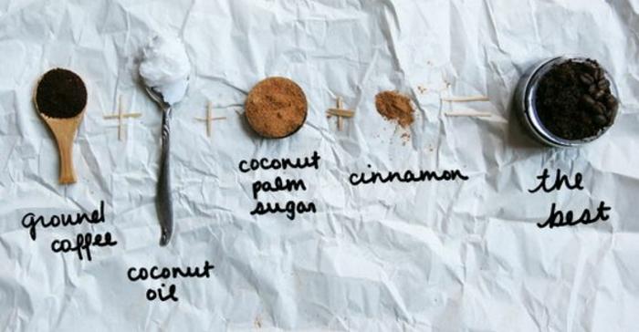 recette facile de gommage maison au café et à la cannelle, un gommage tonifiant