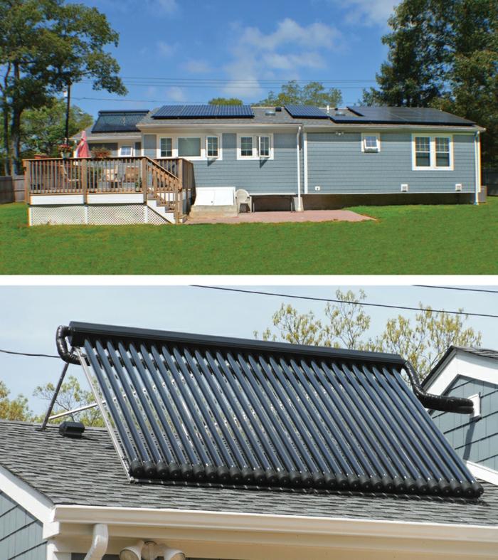home staging conseils, économiser les frais avec des panneaux solaires, rampe en bois