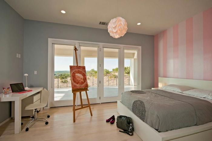 Chambre Adulte Idee Peinture : Conseils et idées pour une chambre en rose gris