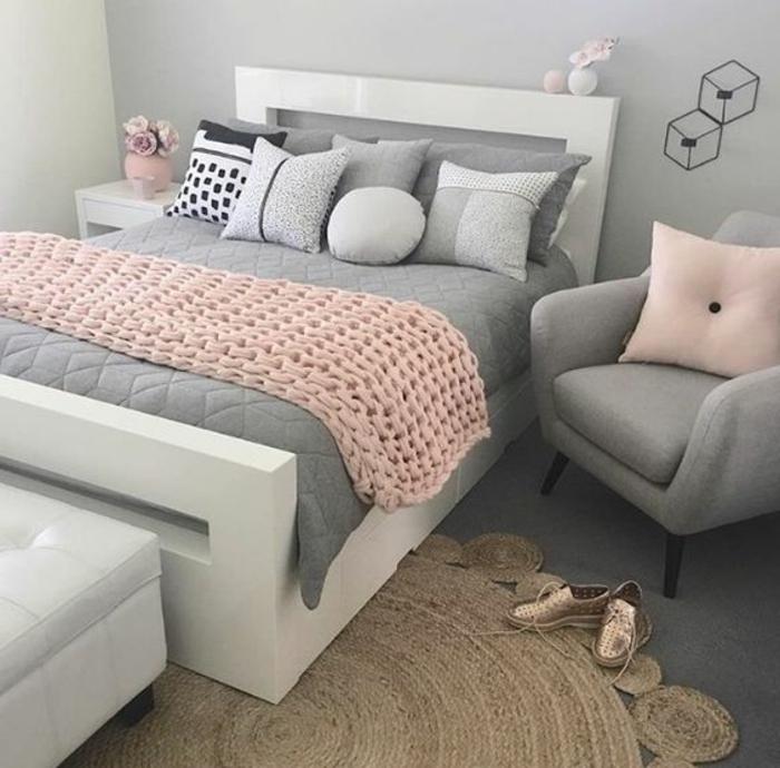 Chambre Adulte Noir Et Fushia : Conseils et idées pour une chambre en rose gris