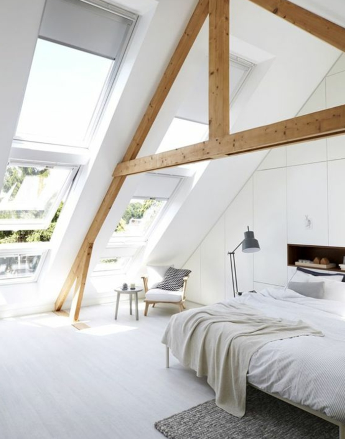 1001 id es d co de chambre sous pente cocoon - Idee amenagement comble ...