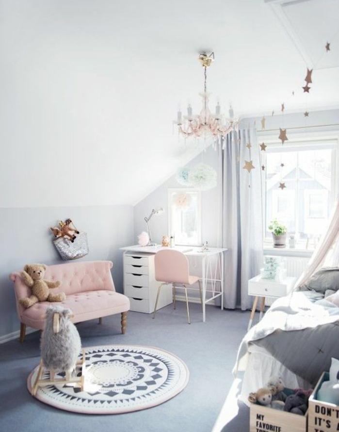 Peinture Chambre Fille Rose Et Blanc : Conseils et idées pour une chambre en rose gris