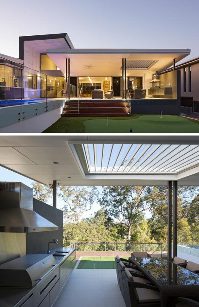 Maison avec terrasse couverte elegant bardage et terrasse for Villa avec terrasse couverte