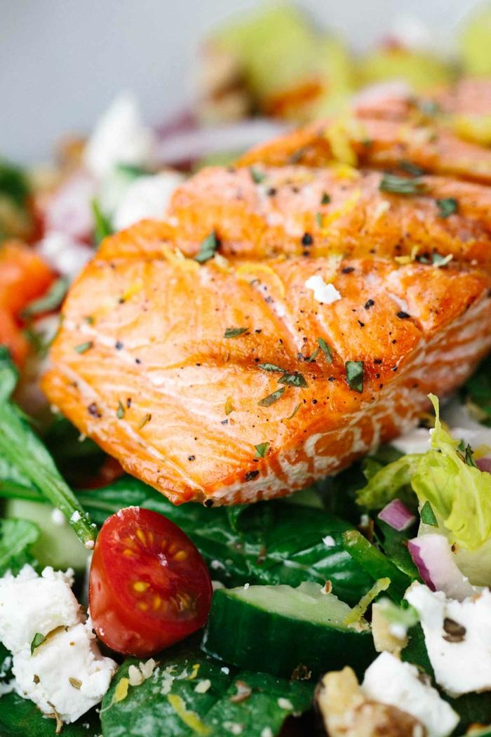 Salade composée recette cool idee salade avec saumon