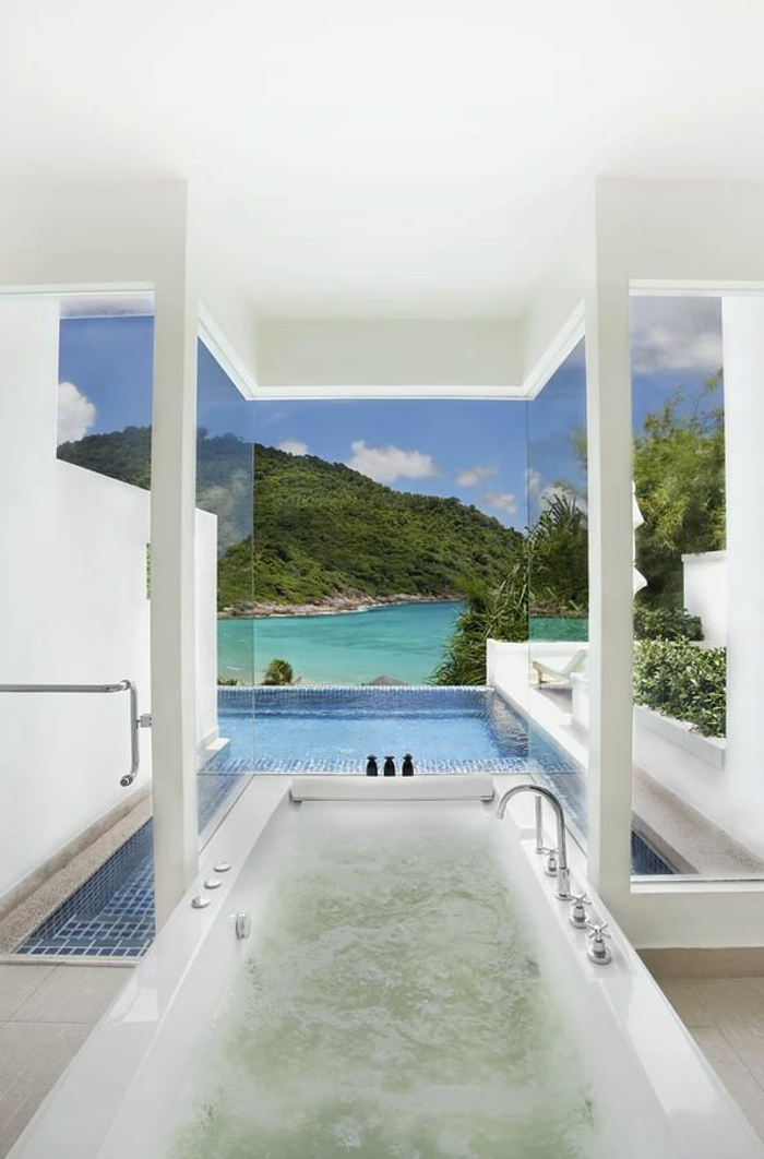 Douche design idee salle de bain luxe marbre belle pièce