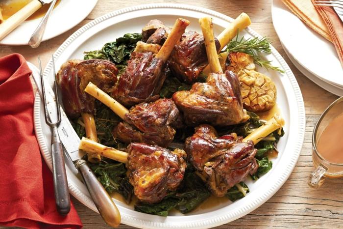 jarret d'agneau garni de chard, viande paques, idée pour votre menu de paques, plat principal, viande