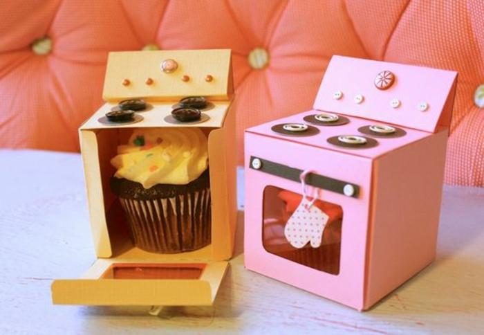 Petits cadeaux anniversaire invités anniversaire enfant fille trop cool présentation de cupcake