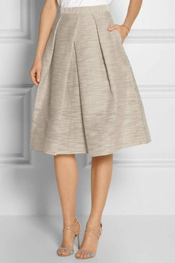 jupe trapèze femme nuance irisée taille haute pour l'été
