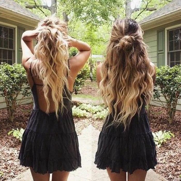 Coiffure boheme coiffures cheveux longs blonds