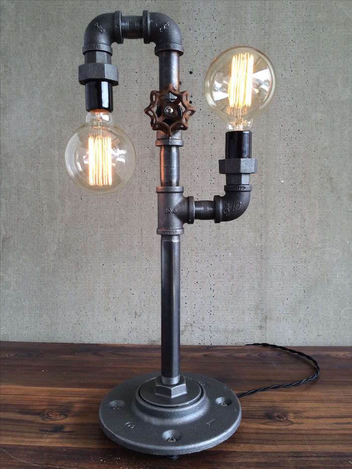 1001 id es meuble industriel une retraite d corative - Lampe de bureau style industriel ...
