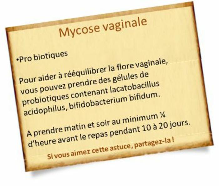 pro biotiques contre la mycose vaginale pour la bonne flore