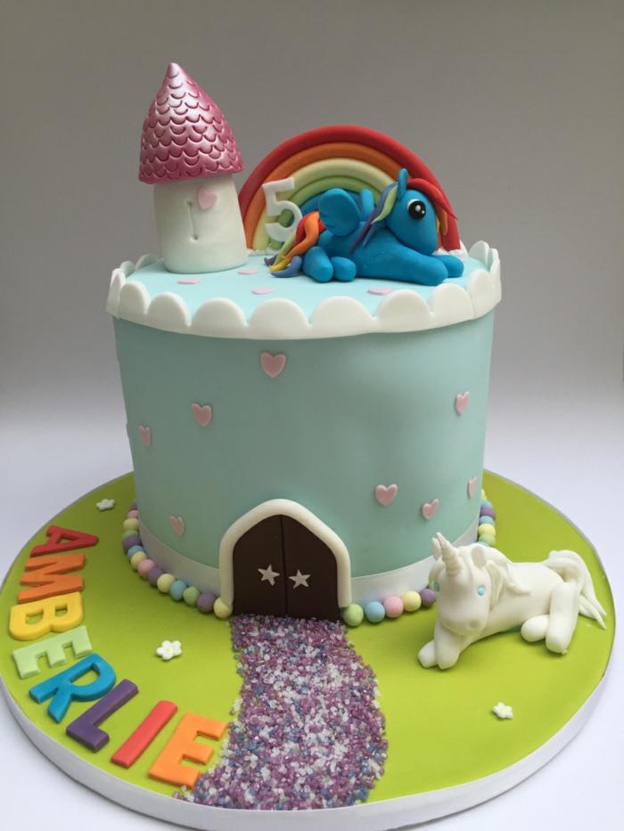 gouter d anniversaire gâteaux anniversaire licorne idee foret magique
