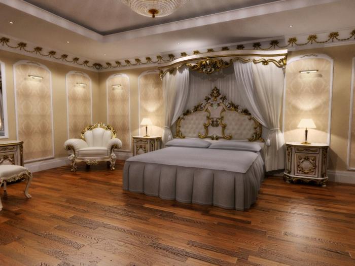 meubles de charme, plafond suspendu, deco baroque, papier peint beige