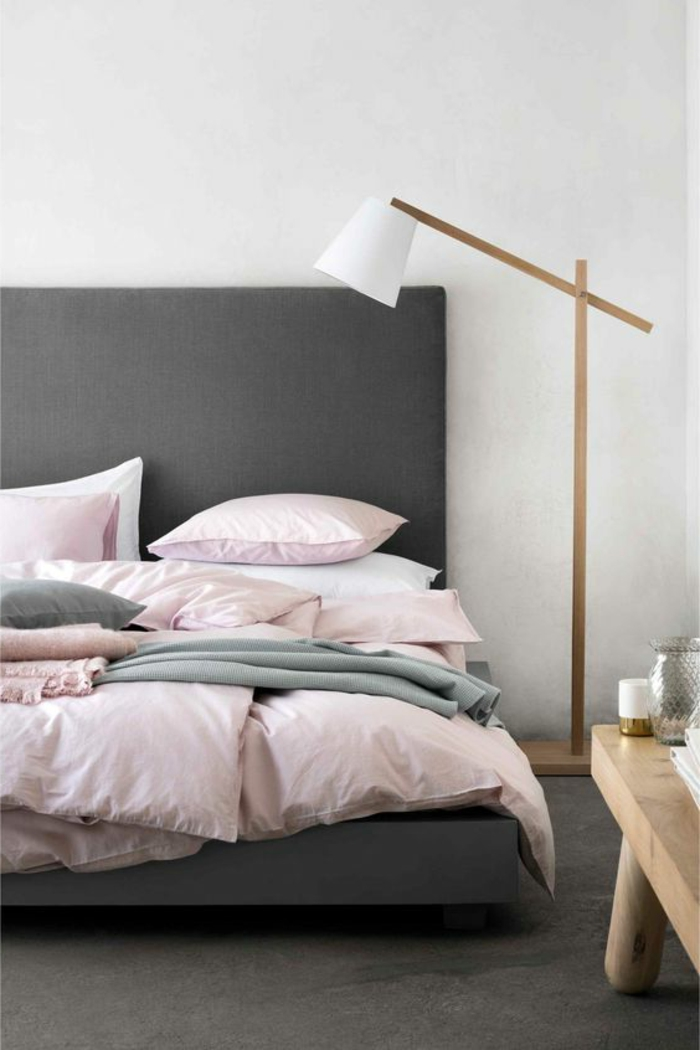 peinture gris et rose pour chambre. Black Bedroom Furniture Sets. Home Design Ideas