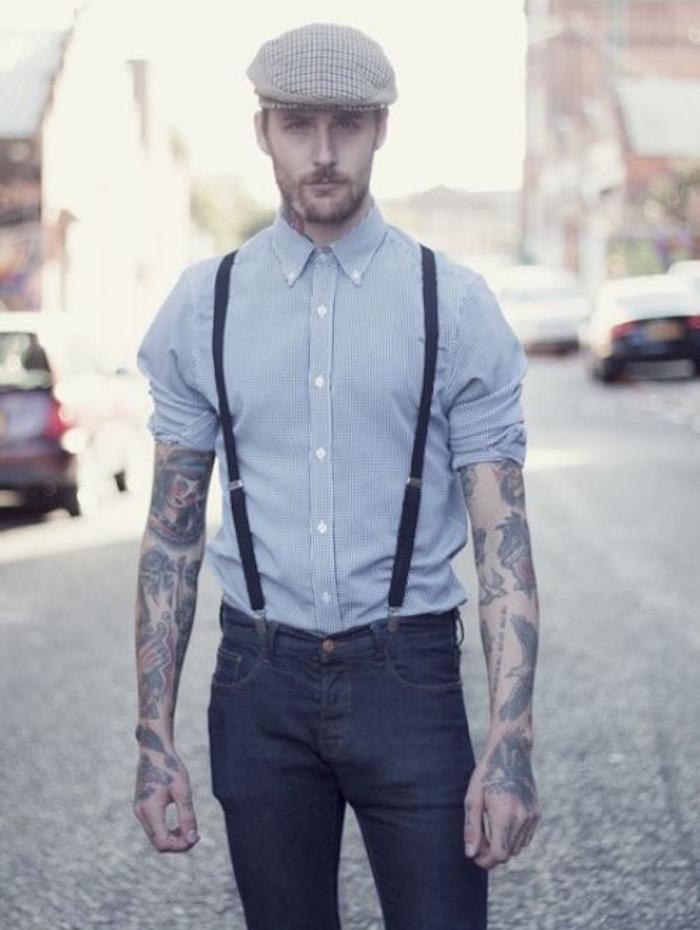 bretelles homme style hipster vintage