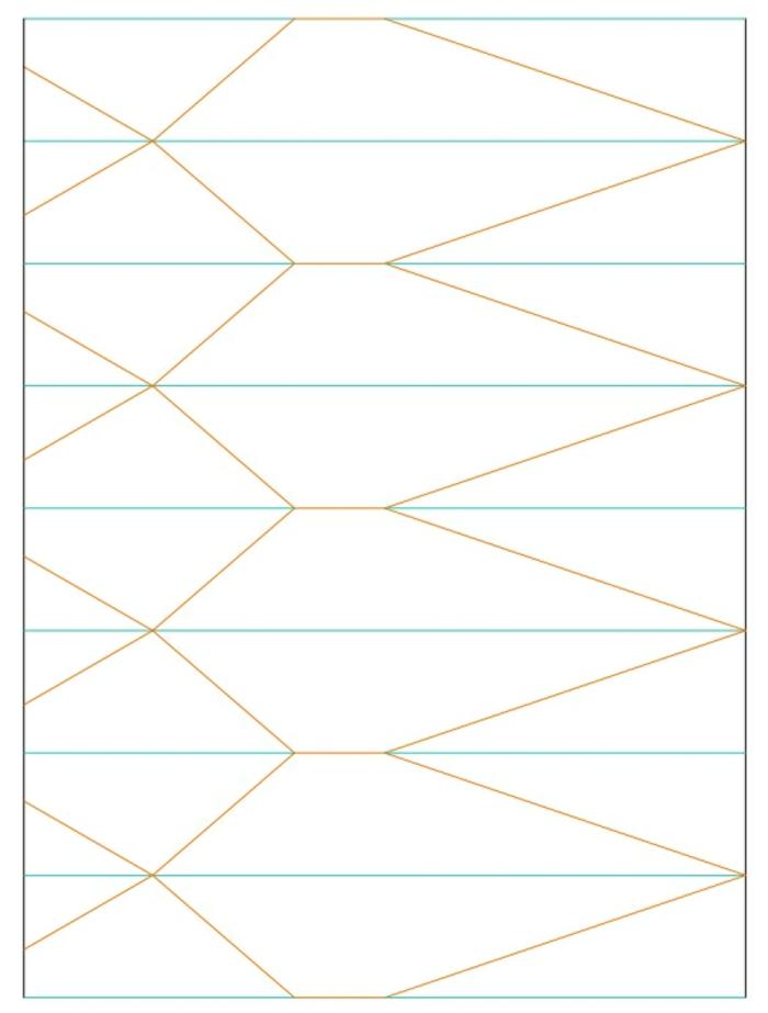 tuto origami, pattern pour le pliage, lignes droites, lignes diagonales, lampe en papier