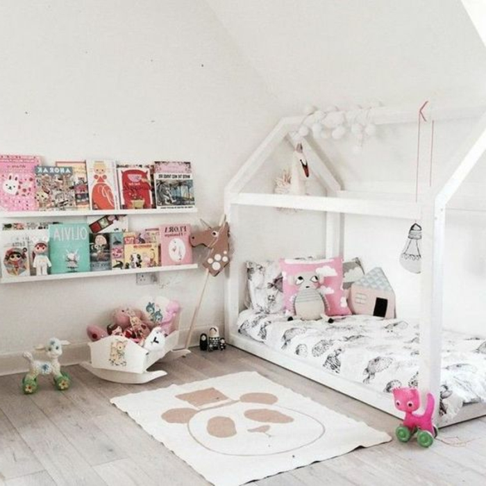 etagere chambre bebe etagere de rangement fille acheter etagre murale coloris blanc laqu mat. Black Bedroom Furniture Sets. Home Design Ideas