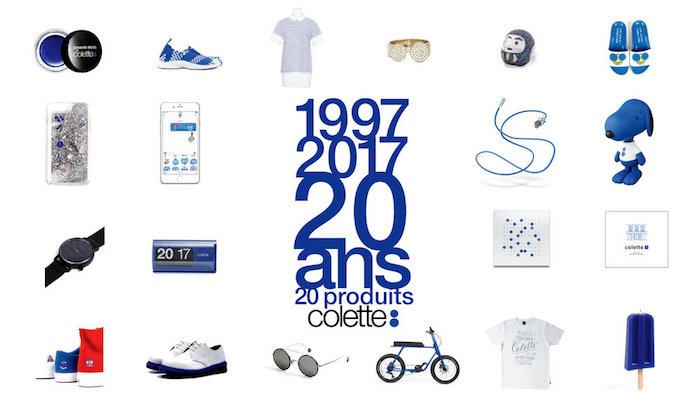 affiche de l'anniversaire 20 ans de la boutique concept store colette paris