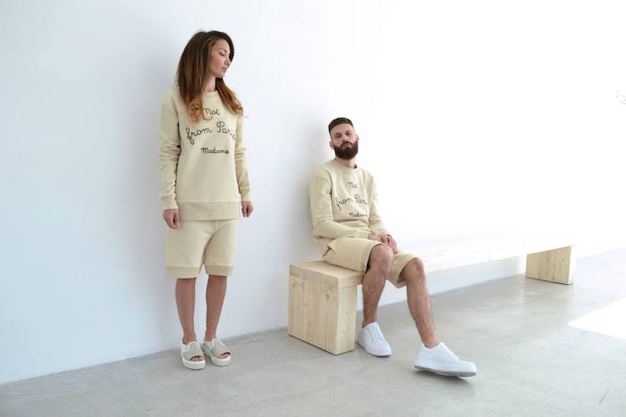 marques francaises streetwear francais sweat femme not from paris madame beige drole de monsieur short homme