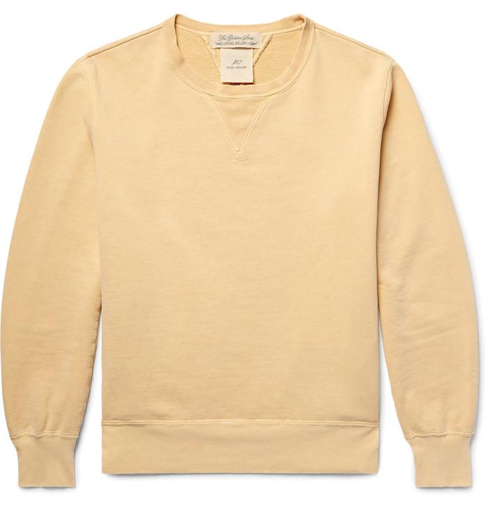 Sweat basique jaune qualité marque luxe Remi Relief