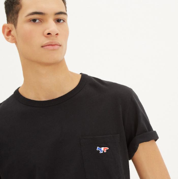 tee shirt maison kitsuné vetement marque france