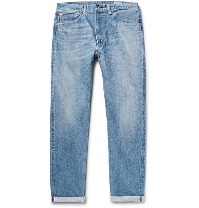 Jean style homme délave marque vetement 107 Washed Selvedge OrSlow