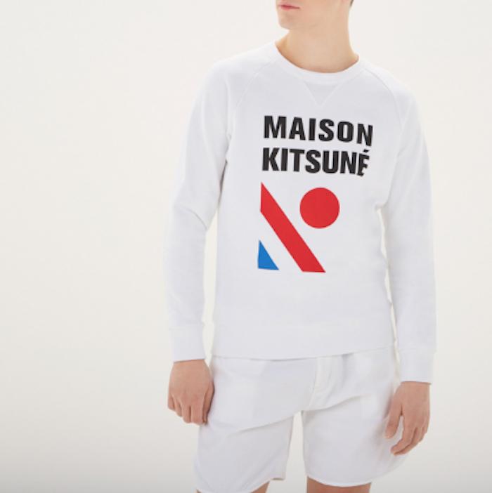 maison kitsuné vetement marque francaise paris