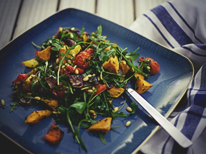 Délicieuse salade composée original; idée salade de saison
