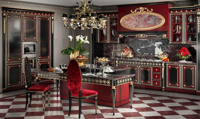 1001 designs sublimes pour une d co baroque - Cuisine ilo central ...