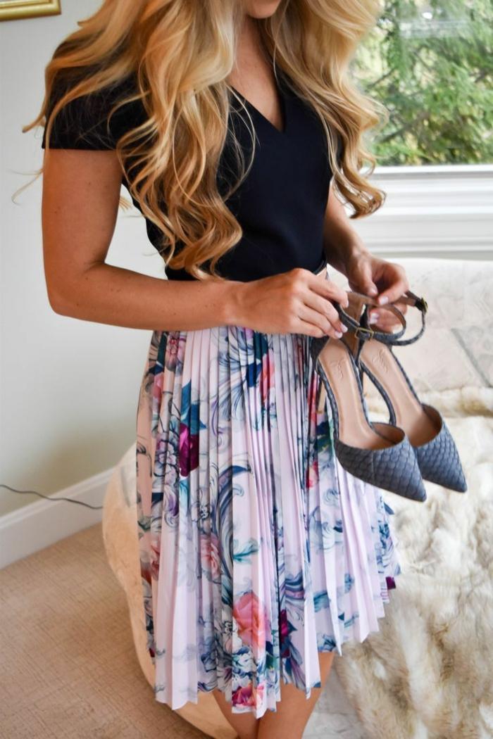 Tenue printemps femme tenue de printemps jupe cool