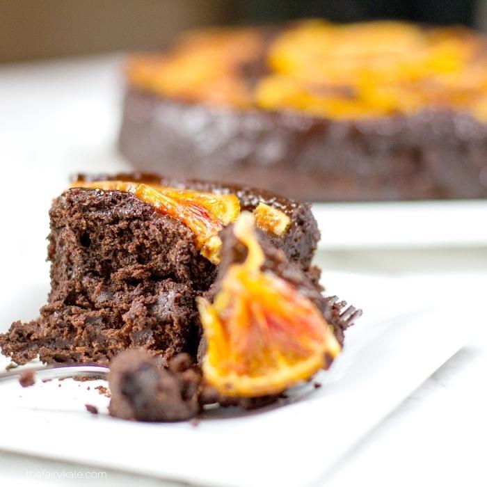 dessert au chocolat et à l'orange facile et rapide, comment faire un gateau au chocolat sans oeuf, gâteau délicieux sans oeuf