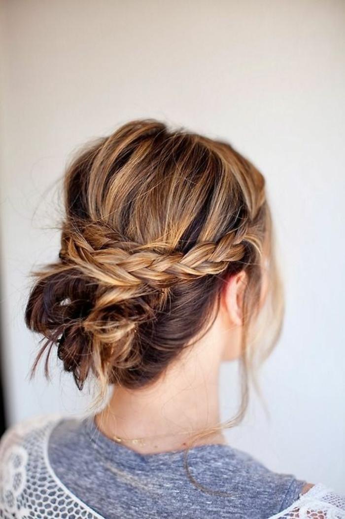 Coiffure bohème chic mariage coiffure romantique tresse